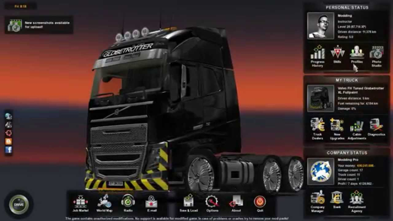 ETS2 Mods: +1000hp engine for Volvo FH16 2012 - YouTube