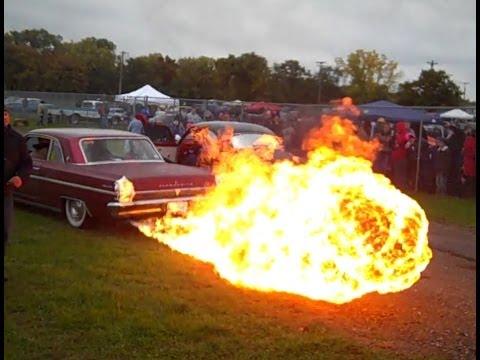 30ft Flamethrower Exhaust Youtube