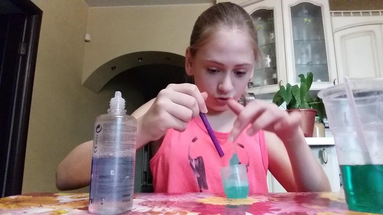 Как сделать лизуна из воды для линз