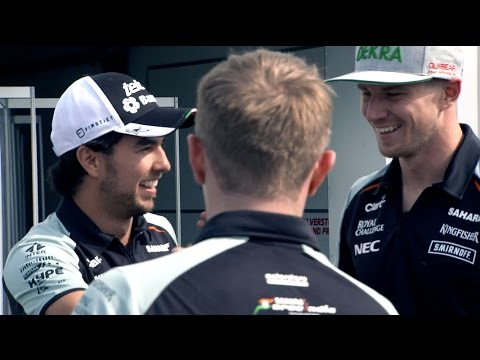 Sahara Force India: Silverstone Filming Day 2016