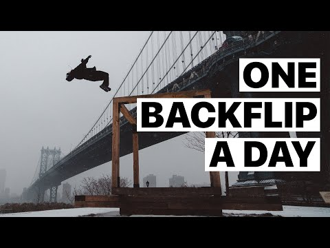 Saltos - Muchos Backflip que salen bien