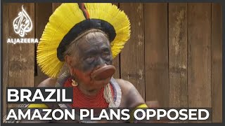 Brazil's indigenous oppose Amazon development plans