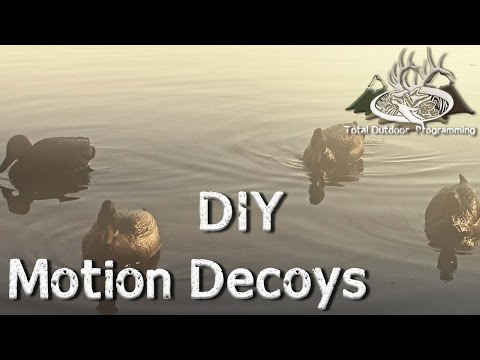 Do it Yourself Motion Duck Decoy Jerkline for Waterfowl Hunting