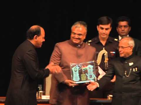 Shri. Dr. Sant Kumar Chaudhary being awarded by the president of India