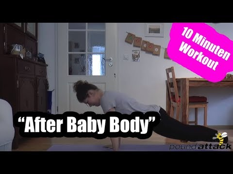 After Baby Body Workout | Fit nach der Schwangerschaft: 10 Minuten Workout nach Geburt | poundattack