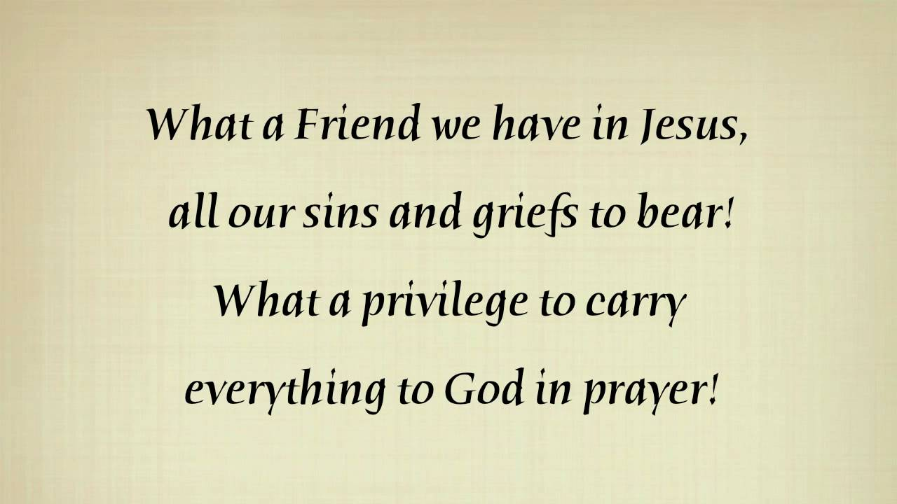 Alan Jackson - What A Friend We Have In Jesus Lyrics ...
