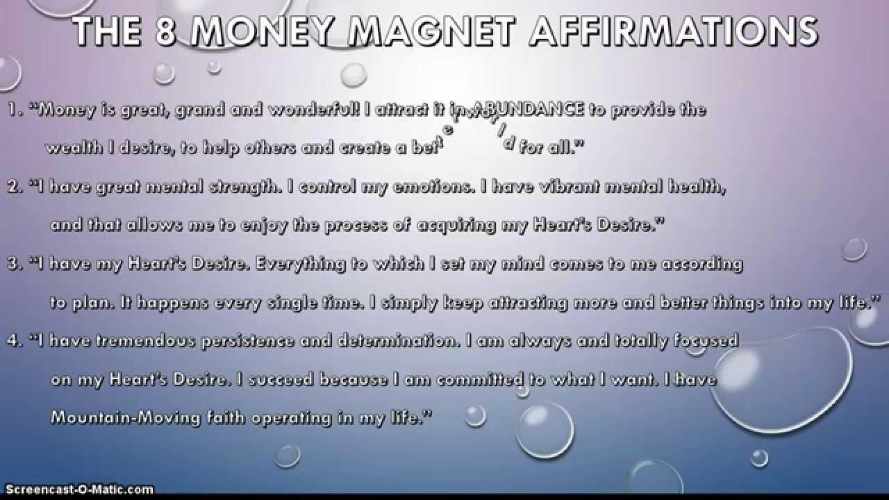Money magnet affirmations youtube