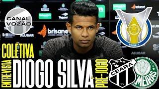 [Série A '19] Coletiva Diogo Silva   Pré-jogo Ceará SC X SE Palmeiras   Canal do Vozão