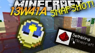 Minecraft Snapshot: 13w41a TIME CHANGES, STAINED GLASS, & SERVER ICONS!