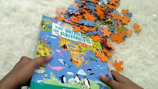 Travel, Learn and Explore – The World of Animals (Book + 200-Pieces Oval Puzzle + 12 Animal Pieces