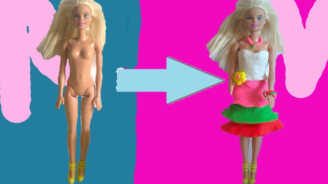 Куклы барби из пластилина своими руками