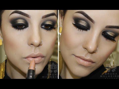 Maquiagem: Preto e Dourado