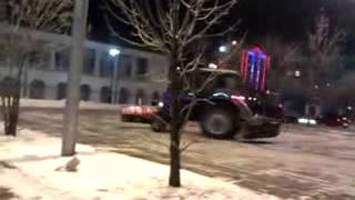 tractor drifting in Russia
