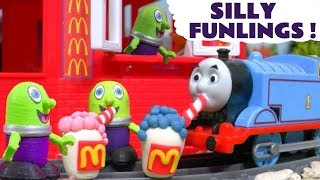 Funny Funlings McDonalds Drive Thru toy stories with Thomas and Friends toys TT4U