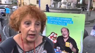 """Banchetto Unicef a Gragnano """"Le tazze della Pimpa per i diritti dei bambini"""""""""""