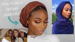 HOW TO TIE A TURBAN PERFECTLY NO SLIP| CULTURE HIJAB F/W COLLECTION| YASMINE SIMONE