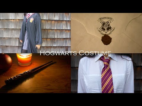 Hogwarts Costume + DIY Wand! - YouTube