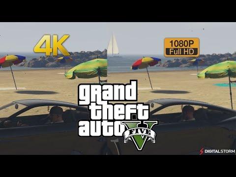 4K vs 1080p Graphics Comparison Grand Theft Auto 5
