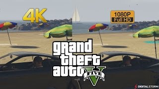 4K vs 1080p Graphics Comparison Grand Theft Auto 5