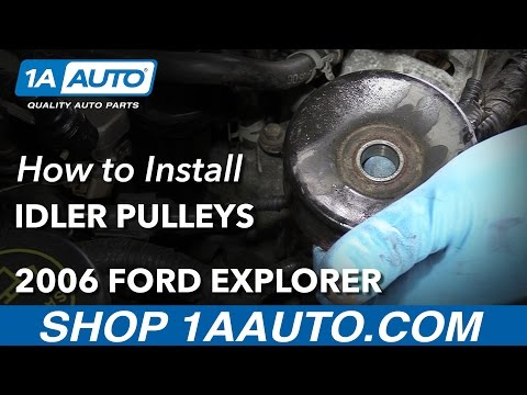 How to Install Replace Smooth Idler Pulleys 2001-09 V8 4.6L Ford Explorer