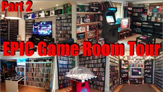 EPIC Game Room Tour 2015 - 4,500 games 100+ Systems - PART 2