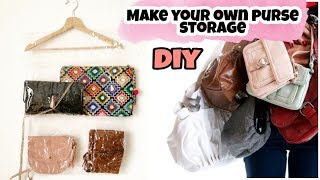 DIY Purse Storage Idea /Purse Organizer/Diy Purse Storage Solution
