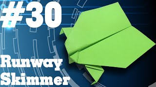 How to make a paper airplane that Flies - Simple Origami paper planes for Kids #30| Runway Skimmer