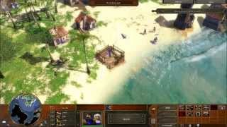 Age of Empires 3 - Act 1 Mission 3 - Pirates! - Campaign Walkthrough - Hard
