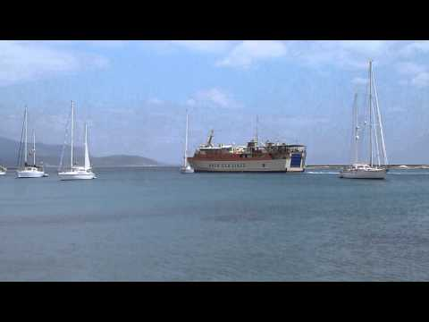 60 Seconds Samos: Departure of ferry Nissos Kalymnos from Pythagorion