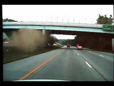0 Craziest Car Wreck EVER on 675! Car Ramps Into Overpass! (Cruiser Cam & News Story)