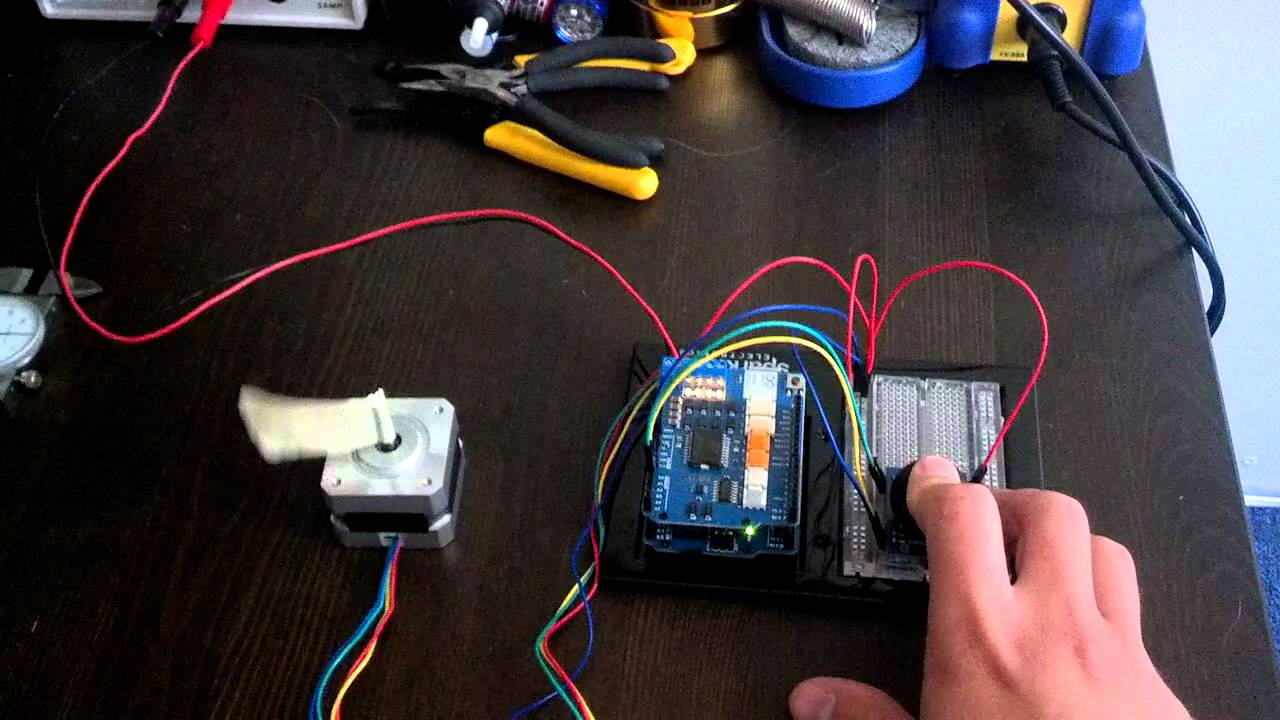 Arduino Motor Shield Stepper Motor Youtube
