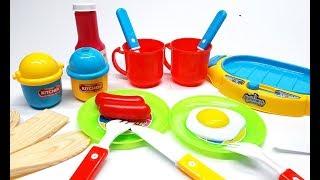 Bé nấu ăn với bộ đồ chơi đầu bếp, hướng dẫn bé tập nấu ăn qua bộ đồ chơi nấu ăn
