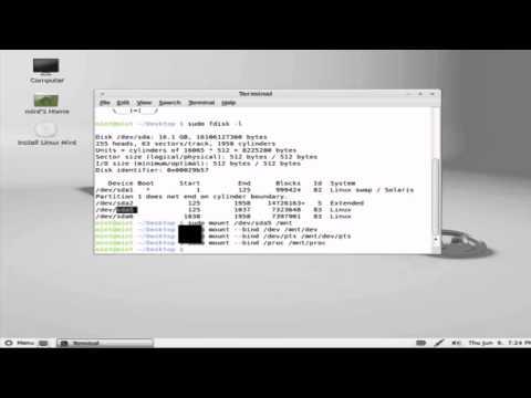 recuperar grub de ubuntu y linux mint