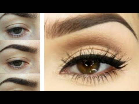 EASY EYEBROW TUTORIAL   How to Trim. Tweeze. Shape + Fill Your Brows for Beginers