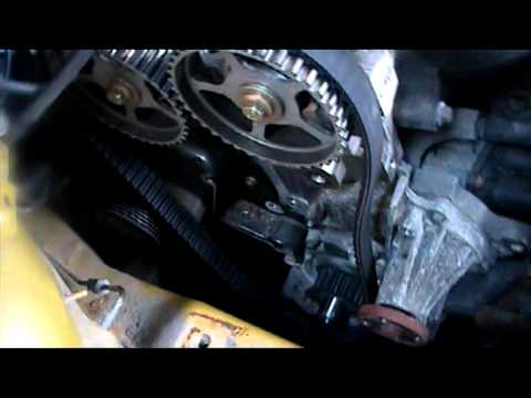 Ford Focus Timing Belt Service Ze Tec Part 1 Youtube