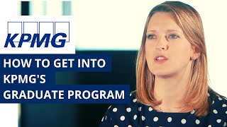 How to get into KPMG's graduate program