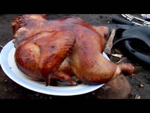 Быстрый курицы горячего копчения