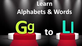 New Alphabet G-L Video | Words for G-L Alphabets | New Alphabet Song 2018| Pannu TV Kids