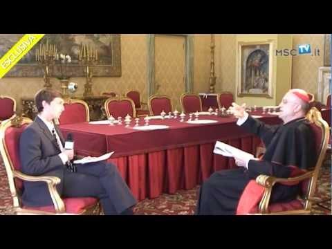 MSCtv, esclusiva intervista al Cardinale Tarcisio Bertone, Segretario di Stato Vaticano