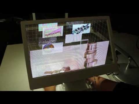 See Through 3D Desktop (Behind the Screen Overlay Interaction)