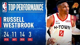 Westbrook Drops 24 PTS, 14 REB & 11 AST For Rockets!