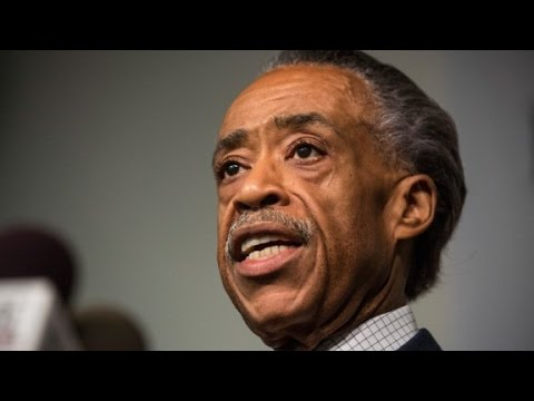 Rev. Al Sharpton speaks at the funeral of Michael Brown