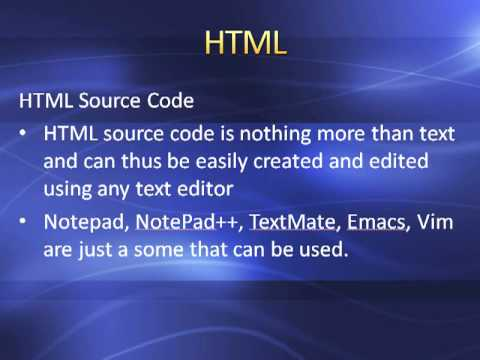 001 Introduction to HTML Programing
