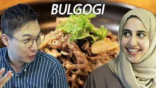 "Let's Eat Korean Halal ""BULGOGI"" with Shamsa [ARB/ENG][THE HALAL ROAD-01]"