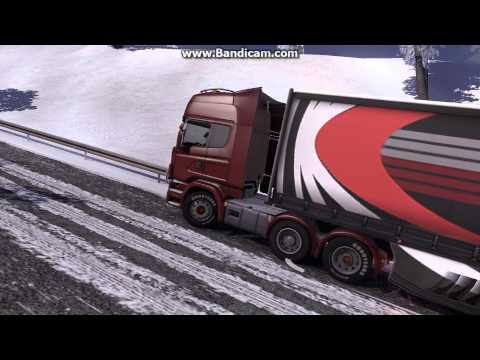 Euro Truck Simulator 2 Scania R480 Stuck in the snow