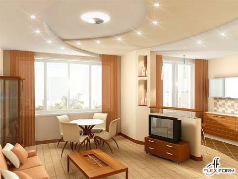 Дизайн кухни ванной зал