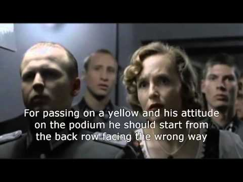 Hitler finds out Rossi to start from rear of grid next GP