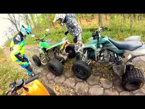 ATV Crash at high speed // Four quads and full throttle