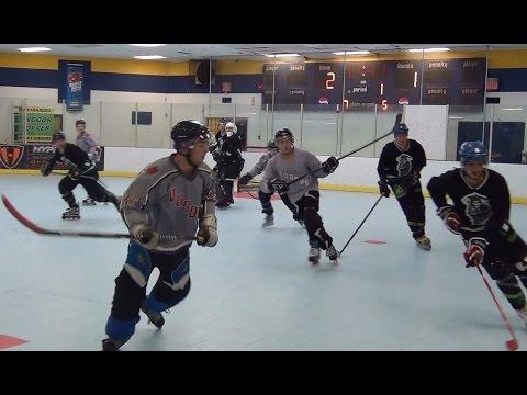 Grim Reefers vs. Voodoo - Period 1 (11/24/14) Roller Hockey Inline Hockey
