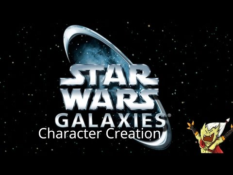 Let's Play Pre-cu Star Wars Galaxies Day 1: Character Creation